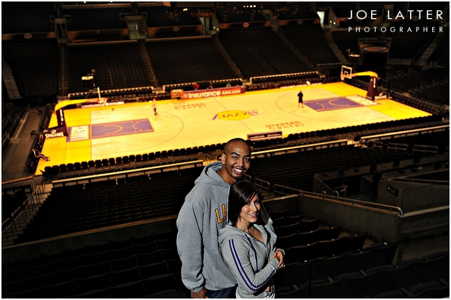 Great engagement session at the Staples Center, home of the World Champion Lakers